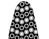 #4: Magna Homewares Deluxe Iron Board Cover with Extra Thick Pad-Circle Design (108-118cm x 32-36cm)