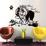 Pegatina pared vinilo escaparates 57 x 80 cm peluquerias caninas residencias de mascotas clinicas veterinarias de CHIPYHOME