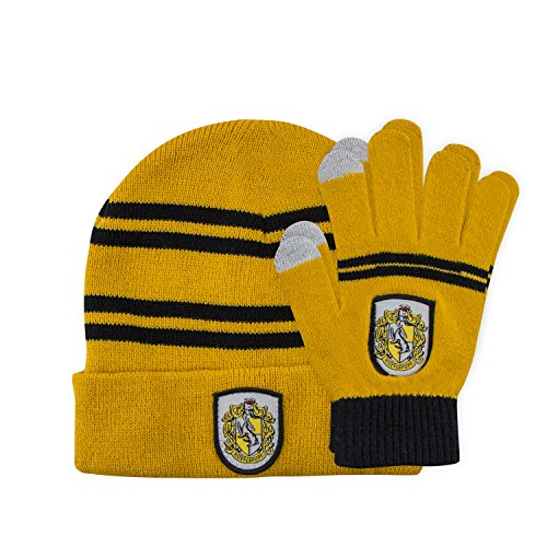 Cinereplicas Harry Potter - Set de gorros y guantes - Niños (Hufflepu
