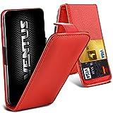 Aventus (Rot) ZTE Open L Premium-PU-Leder Universal Hülle Spring Clamp-Mappen-Kasten mit Kamera Slide und Karten-Slot-Halter
