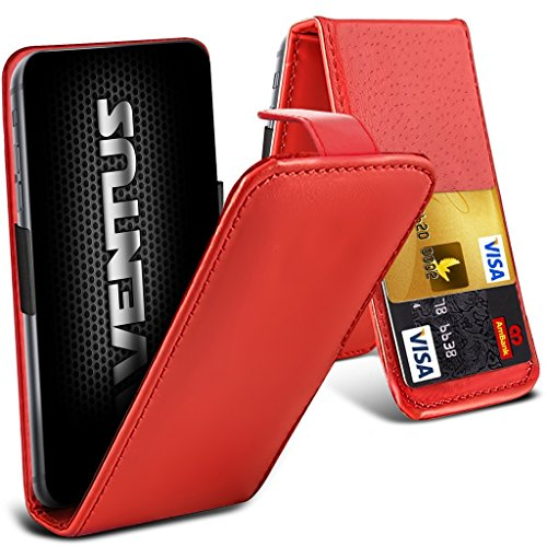 Aventus (Rot) ZTE Grand S3 Premium-PU-Leder Universal Hülle Spring Clamp-Mappen-Kasten mit Kamera Slide und Karten-Slot-Halter