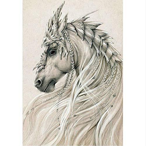 Heiße art pferd 5d diy diamant malerei pferd muster 5d runde diamant kreuzstich tier kristall mosaik jbv06,40x50cm - 17077 Kit