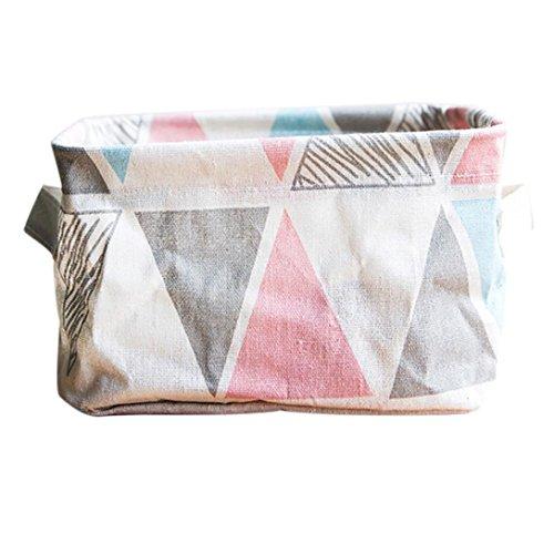 Hunpta, cestino pieghevole in stoffa, contenitore per organizzare l'armadio e i giocattoli Pink