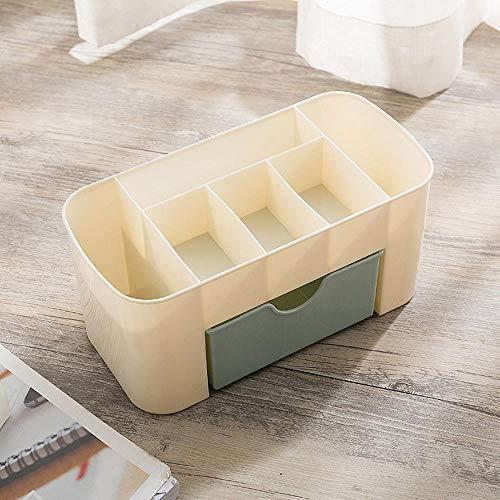 Ysuing Kosmetische Aufbewahrungsbox Schublade kosmetische Lagerung Finishing Kontrollkästchen Desktop-Gitter Dressing Feld 22 * 10 * 10,3 cm -
