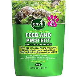 Envii Feed & Protect - Répulsif De Contrôle Anti-Limace et Escargot Sans Risque Pour Les Animaux - Fertilisant Non-Toxique et Sans Danger Pour Les Animaux (500g)