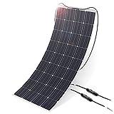 ALLPOWERS 160W 18V 12V Cargador Panel Solar Monocristalino Ligero Flexible con Conectador MC4 para Coche, Carpa, Cabina, Barco, RV (Compatibilidad con 18V y Debajo de los Dispositivos)