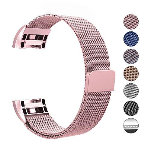 Fitbit charge 2 cinturino, swees chiusura magnetica milanese loop in acciaio inox cinturino bracciale per fitbit charge 2 (6.1
