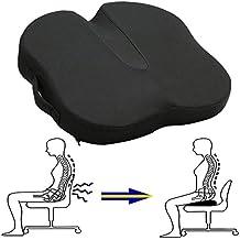 butferfly oficina de espuma de memoria cojín para el coxis para asientos de coche alivio de dolor de espalda, ciática y coxis dolor, parte inferior antideslizante
