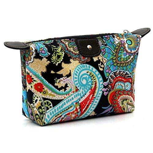 BZLine Mode Femmes Cosmétique Pochette-Voyage Make Up Bag Sac à Main Occasionnel Embrayage Sac à Main-Mode Imprimer- Imperméable- Zipper