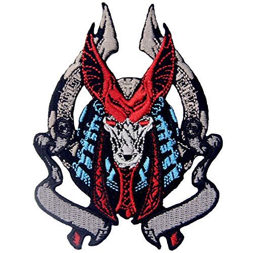 ZEGIN Aufnäher, Bestickt, Design: Anubis, Gott des Jenseits Schakalgottes in Ägypten, zum Aufbügeln oder - Anubis Kostüm Männer
