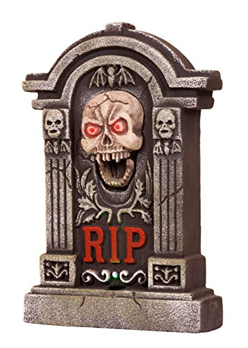 Halloween Light Up Prop Tombstone mit Sound (Light Halloween-kostüme Up Hexe)