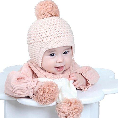 Fuibo Baby Schal Mützen, Nette Winter Baby Kinder Mädchen Jungen Warm Woolen Coif...