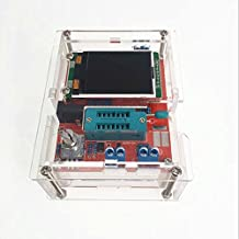 iHaospace Fully Assembled with Acrylic Case Multifonctionnel LCD GM328 Transistor Testeur Diode Capacitance ESR Voltage Frequency Meter PWM Square Wave Signal Generator