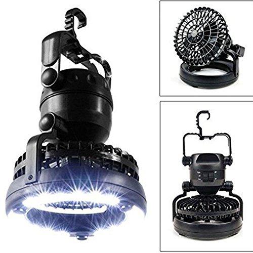 VISTANIA LED-Zeltlicht-Ventilator-2 In 1 Multifunktionale 18-LED-Zeltlampe Mit Deckenventilator-Akku Angetrieben