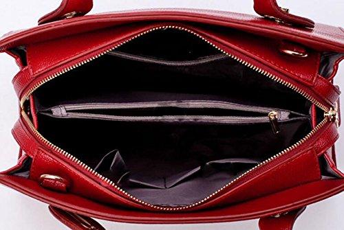 Europa Und Die Vereinigten Staaten Wind Mode Mutter Paket Zwei Sätze Von Kreuz-förmigen Handtasche Schultertasche Tasche Black