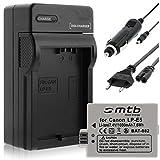Batterie + Chargeur (Auto/Secteur) pour Canon LP-E5 / EOS 450D, 500D, 1000D / Rebel...