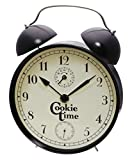 POWERHAUS24 Art Deco Uhr, Keksdose Geschenk-/Aufbewahrungsdose, Dekoration, Blechdose Vol. 3,5l