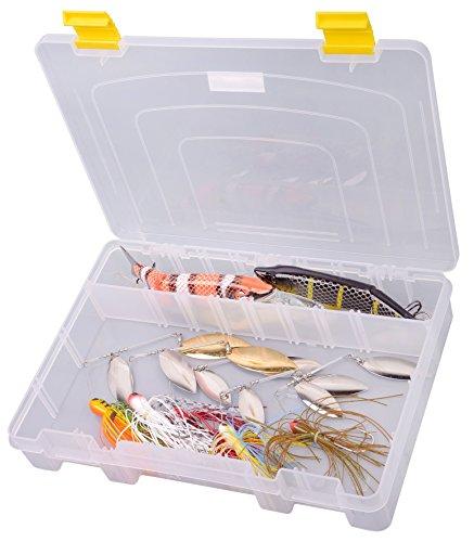 Spro Tackle Box 28x20x4,5cm - Angelbox für Wobbler & Gummifische, Kunstköderbox, Tacklebox, Köderbox, Angelkasten