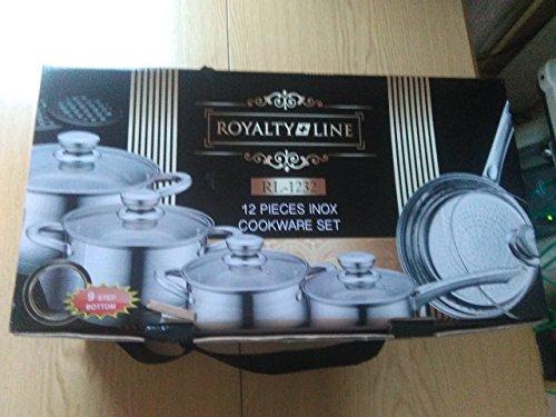 Juego utensilios cocina Royalty Line acero inoxidable