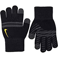 Nike Gloves Knitted Tech and Grip Youths Boys Black & Grey