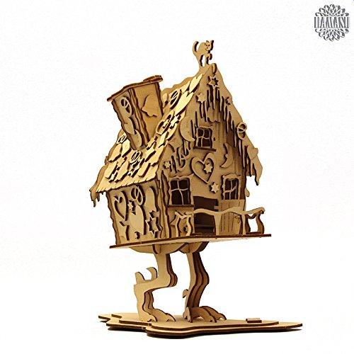 DAMASU BS_RH11, Bausatz-Räucherfiguren, Hexenhaus auf Hühnerbein