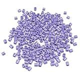 Kingnew 1000pcs Multicolor Plástico perlas mixtos para DIY pulseras, collares, llavero y niño joyas (Light Purple)