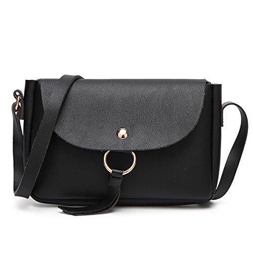 Mefly Unica Borsa A Tracolla Messenger Bag Moda Rétro Verde black