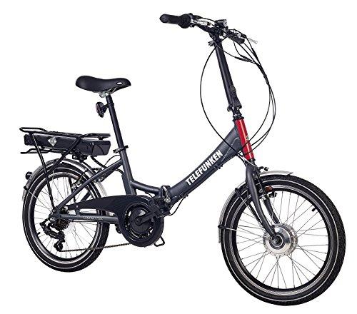 Telefunken E-Bike Klapprad, Elektrofahrrad Alu in grau, 7...