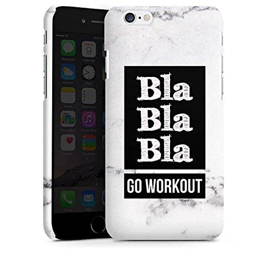 Apple iPhone X Silikon Hülle Case Schutzhülle Workout Fitness Spruch Premium Case matt