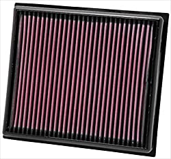 K&N 33-2962 Motorluftfilter: Hochleistung, Prämie, Abwaschbar, Ersatzfilter, Erhöhte Leistung, 2008-2017 (Insignia, 9-5)