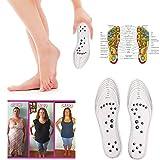 5 paia di solette massaggianti per terapia magnetica, riflessologia, traspiranti, per agopressione dei piedi, rilassare i muscoli e migliorare la circolazione, alleviare il dolore