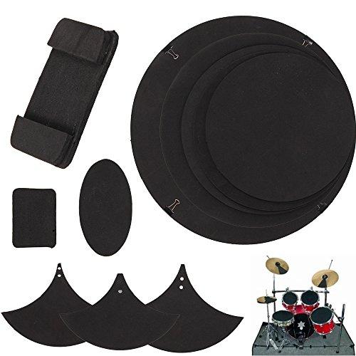 multiware-10pcs-drum-silencer-pads-bass-snare-drums-sound-off-black