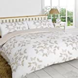 Stephanie Double Gold Butterfly Duvet Cover set