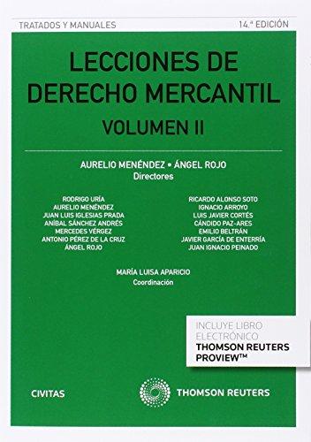 Lecciones de Derecho Mercantil Volumen II (14 ed. - 2016) (Tratados y Manuales de Derecho)