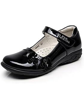 rismart Niñas Inteligente Bucle De Gancho Vestido De Escuela Charol Zapatos De Vestir