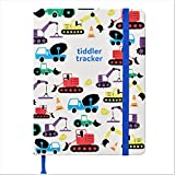 tiddler tracker – Award Winning Baby Tracking Journal | Daily Feeding, Sleeping & Changing Log Book | Luxury Baby Journal | Unique New-born Record Book (Diggers Cover Design)