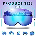 amzdeal-Occhiali-da-Sci-OTG-Maschera-da-Sci-Snowboard-Antivento-Anti-Fog-Protezione-100-UV-400-per-Uomo-Donna-e-Giovent-per-a-Snowboard-Motocross-e-Altri-Sport-Invernali