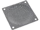 Lüftergitter 120x120mm schwarz Metall Gewebe zum schrauben