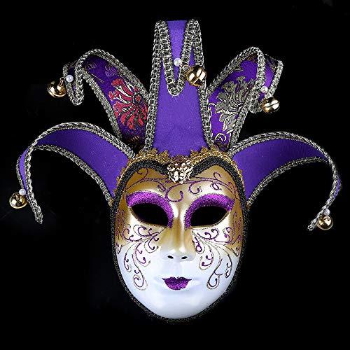 Spfree Makeup Show Maske Halloween Prom Party Maske Gold Pulver Kreative Vollgesichts Venezianische Maske für Frauen