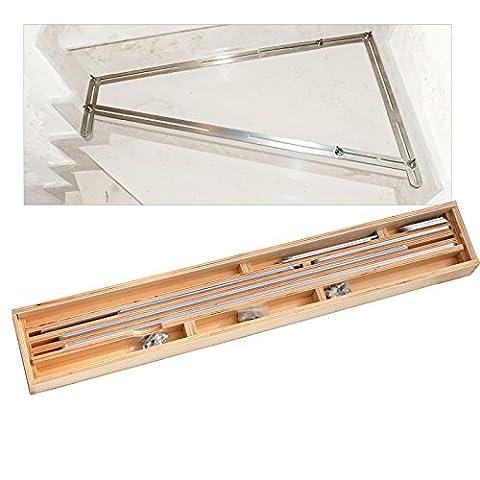 Bautec Stencil/Stairs Template/Design/Stair Gauge in a Wooden Box