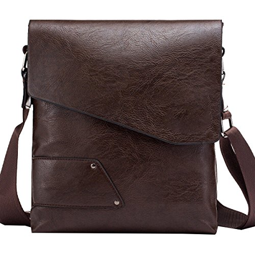 Yy.f Uomo Borsa A Tracolla Uomo Pu Borsa Tempo Libero Messenger Bag Moda Intrinseca E Pratica A 3 Colori Marrone
