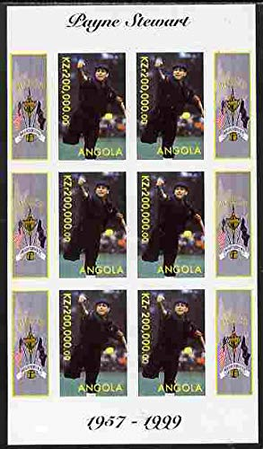 Angola 1999 Golf - Payne Stewart imperf sheetlet 6 values...