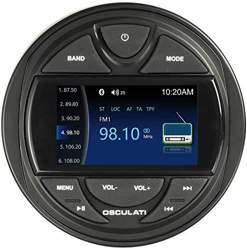 """Osculati Marine Radio IPX5 mit 3\"""" TFT Display Bluetooth/DAB/USB Boot 4 x 40Watt Yacht"""