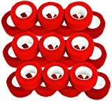 Fingerverband, Fingerpflaster, Selbsthaftende Fingerbandagen, Pflaster 2,5 cm breit, rot - 21 Stück
