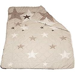 exklusiv-heimtextil Steppdecke Steppbett mit Muster Picknickdecke 135x200 cm Motiv Sterne
