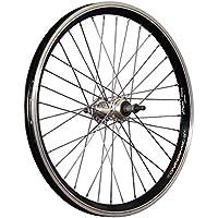 Taylor Wheels 20 pollici ruota posteriore bici doppia camera nero/argento - 130 Mm Mozzo Posteriore
