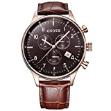 GNOTH Herren Braun Chronograph Casual Analog Quarz Armbanduhr - Best Reviews Guide