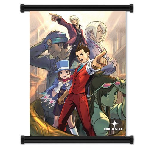 Laohujia Ace Attorney: Phoenix Wright Apollo Justice Game Fabric Wall Scroll Poster (16x21) Inches by Wall Scrolls