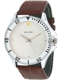 Swiss Trend Exclusive Analogue White Dial Men's Watch - OLST2264