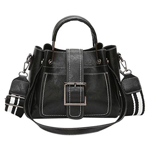 Umhängetasche Damen Btruely Schultertasche Elegant Schule Vintage Handtasche Leder (Schwarz) (Butterfly Hobo Bag)